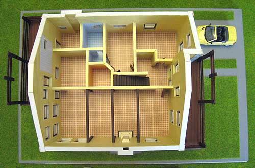 Архитектурный макет жилого дома в Подмосковье.  Макет изготовлен из картона.  Макет предназначен для выставок...